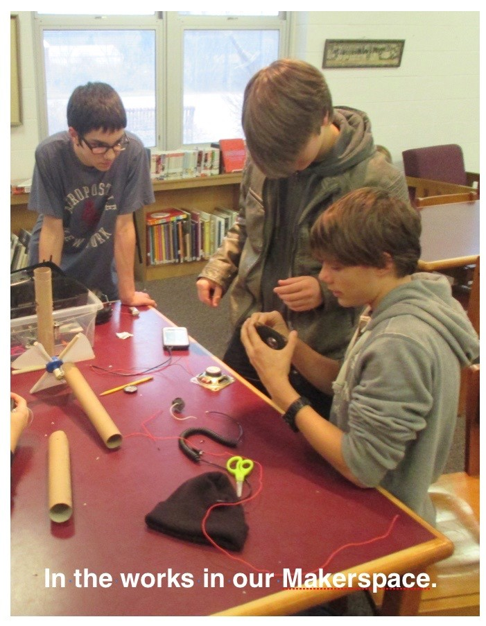 ACSLIB Poster: Students configuring electrical components in our MakerSpace.
