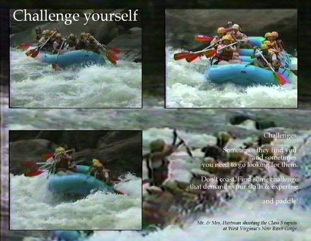 Challenge yourself poster