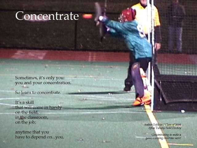 Concentrate poster