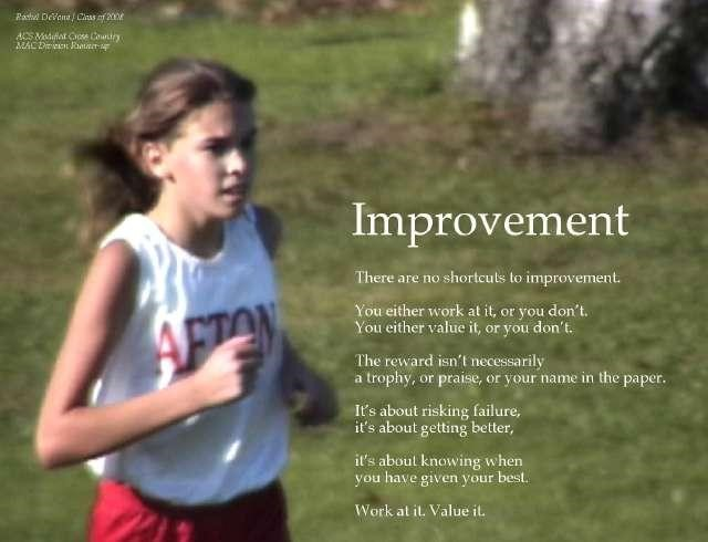 Improvement poster