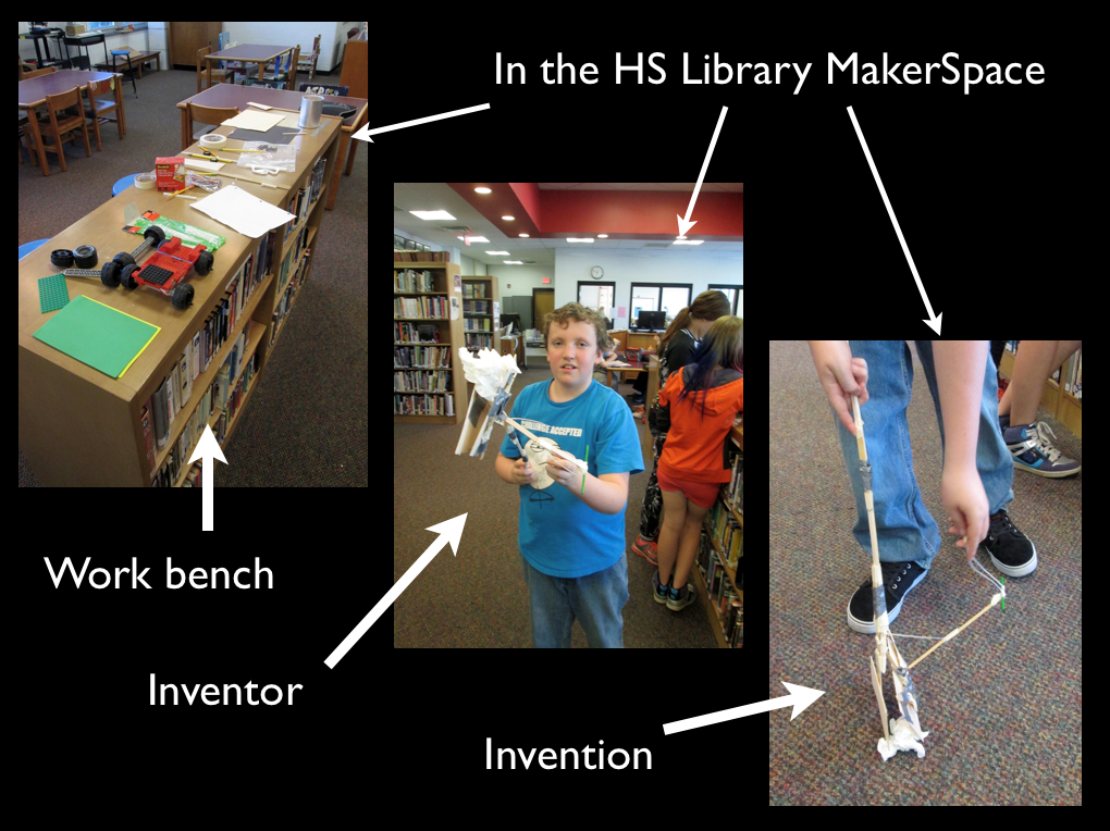 Composite image of documenting a student invention: a picker-upper.