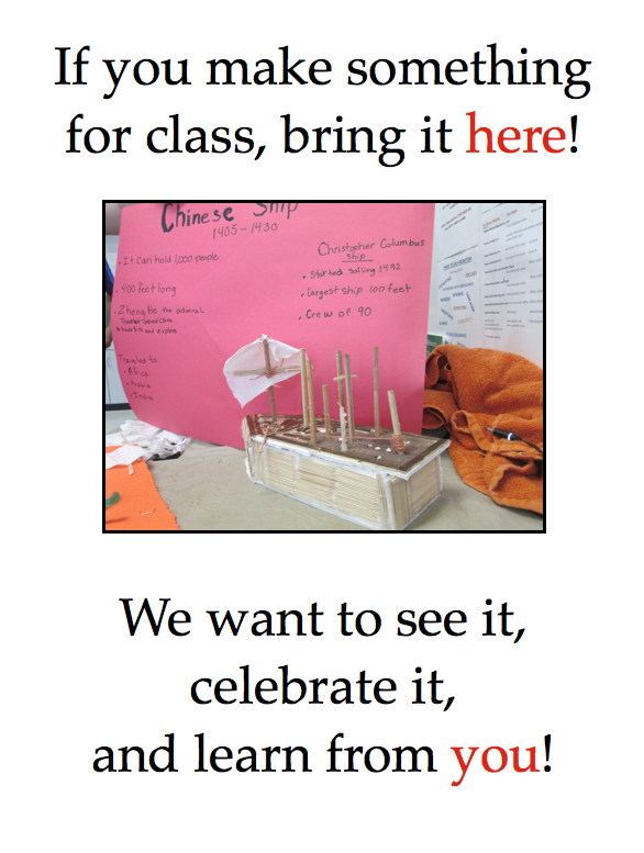 Poster celebrating a student-built sailing ship.