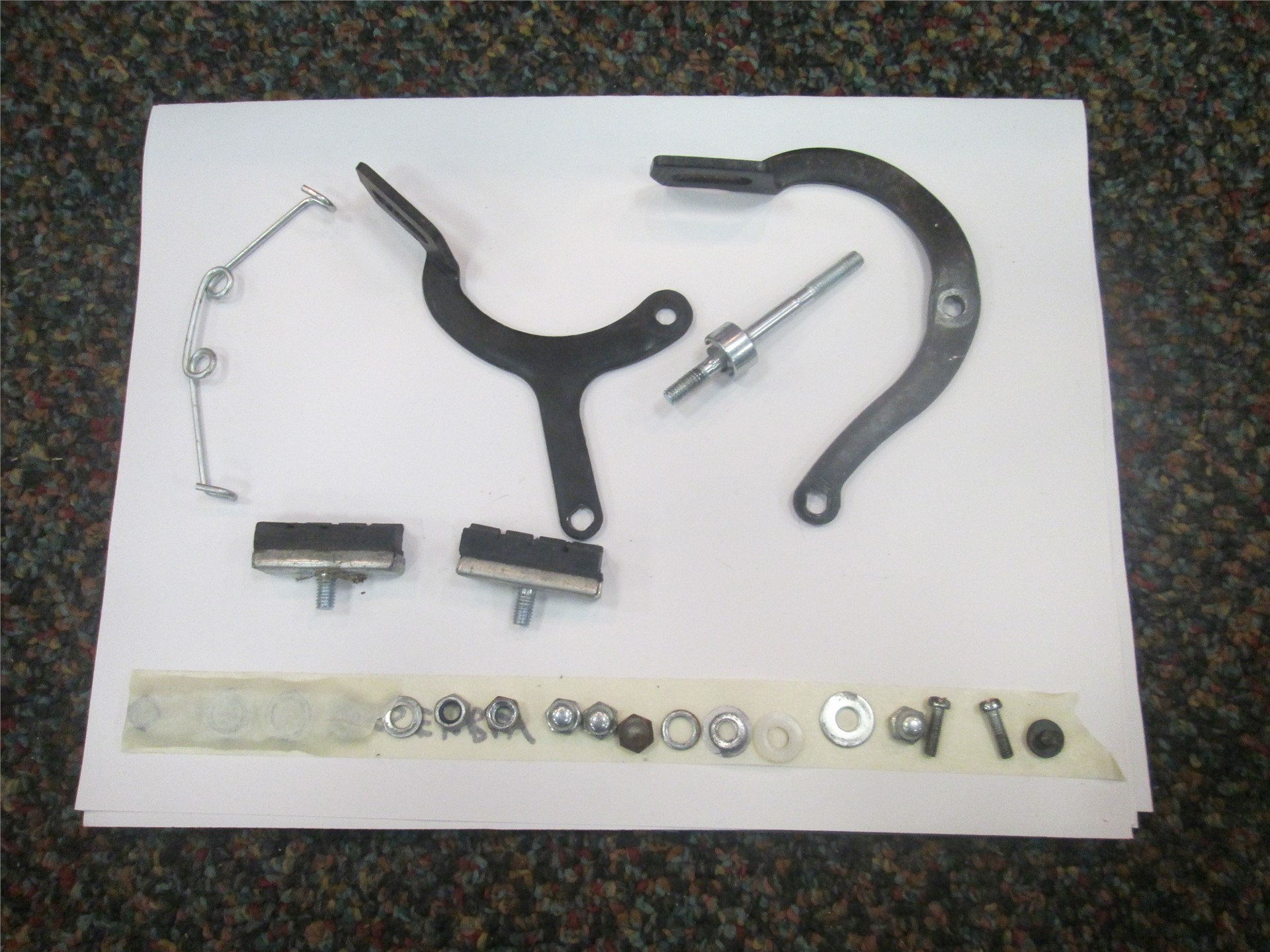 Image of bicycle parts.