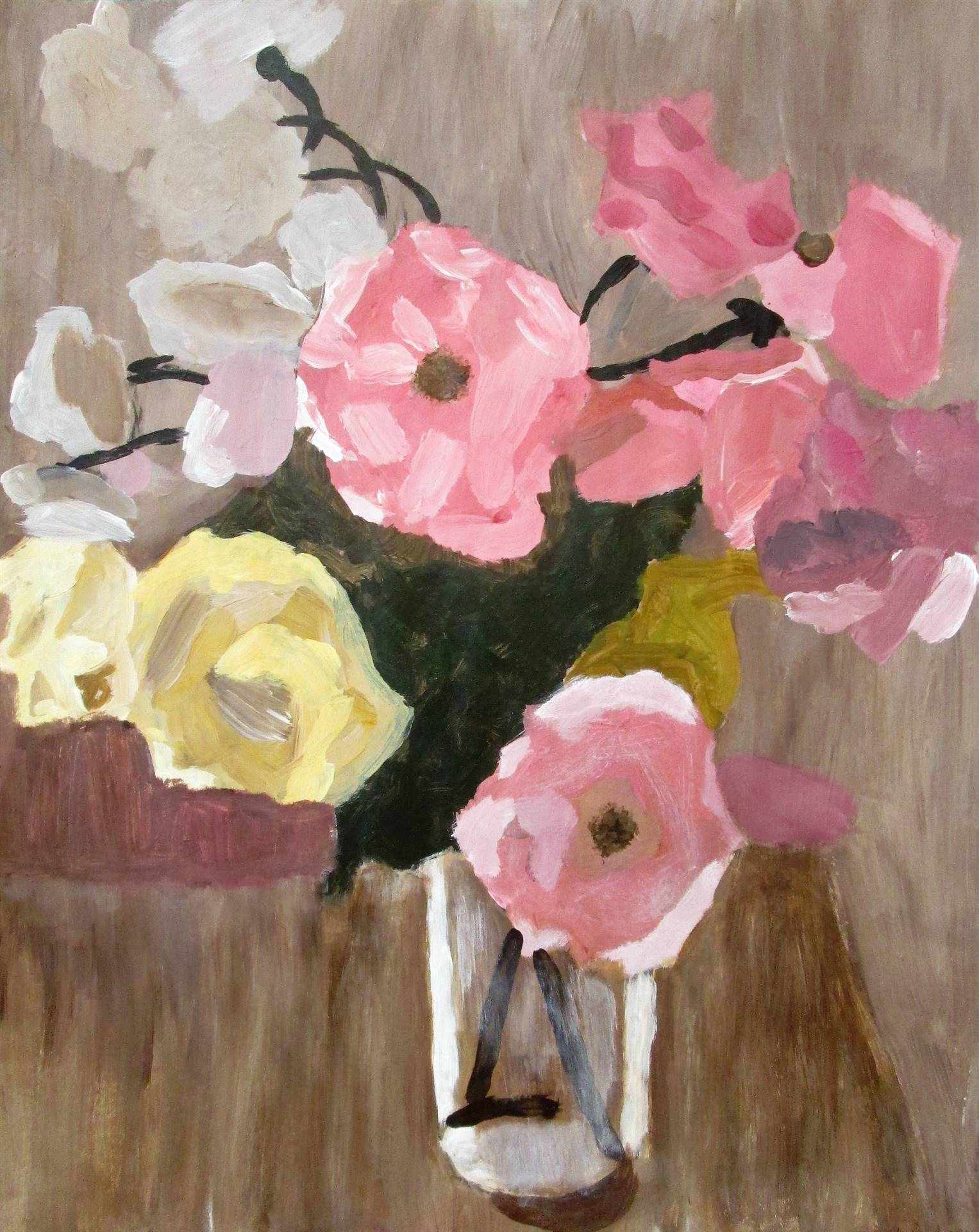 Image of student artwork based on the artist Fairfield Porter.