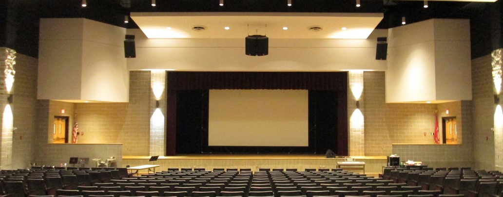 View of the ACS auditorium and stage.