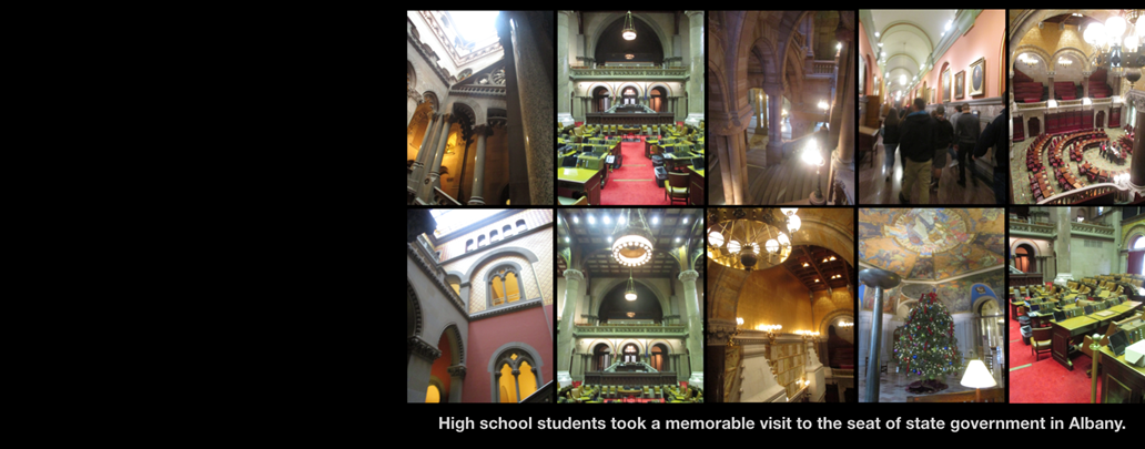 Composite images of NYS government buildings.