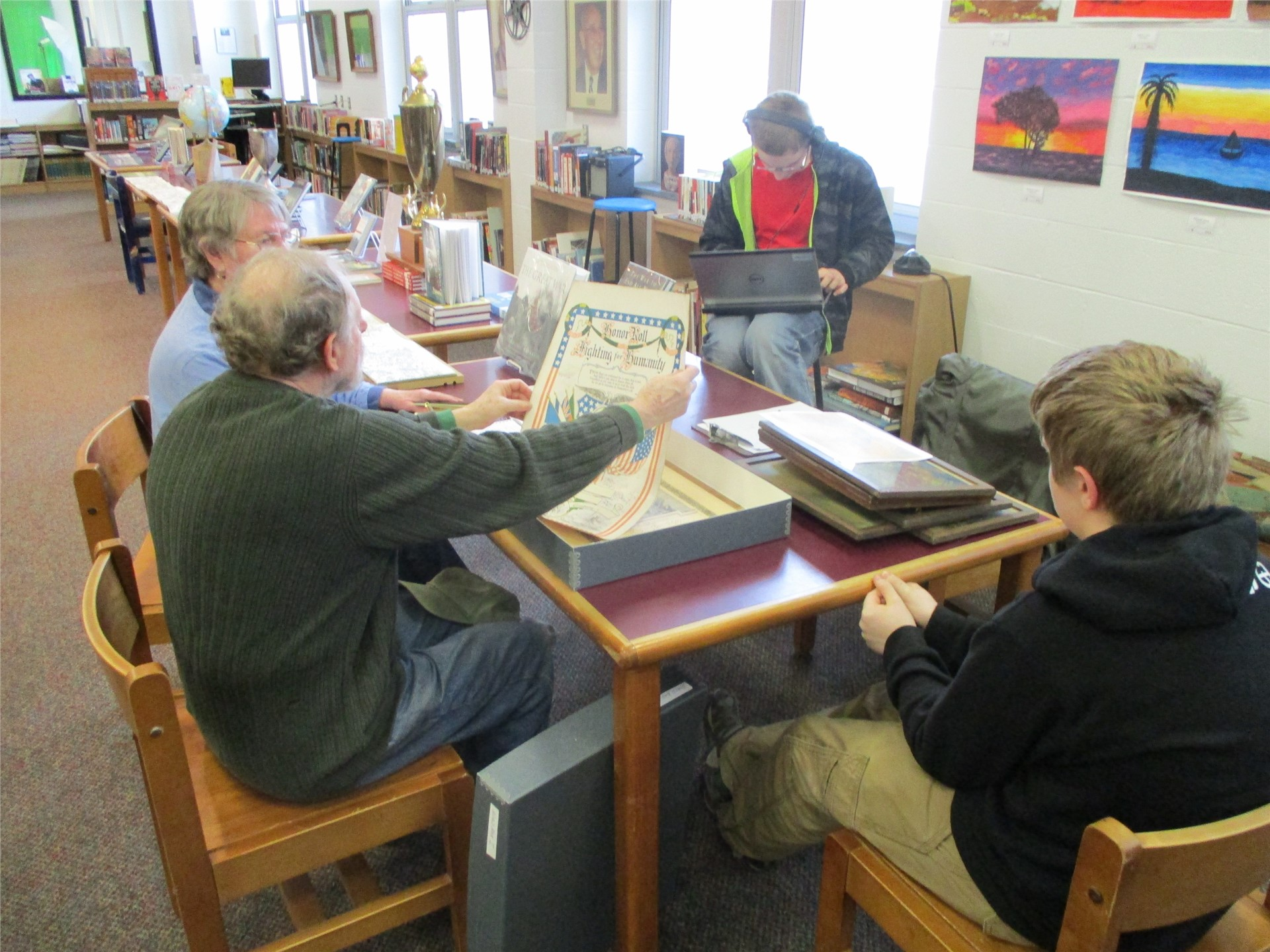 World War I exhibit: planning meeting with museum representatives.