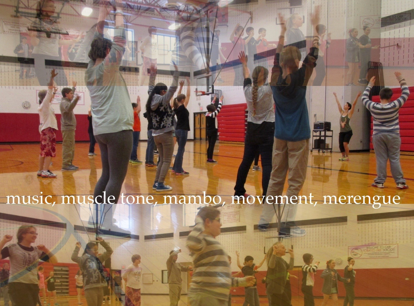 ACSLIB Poster: Composite images of students exercising with dance.