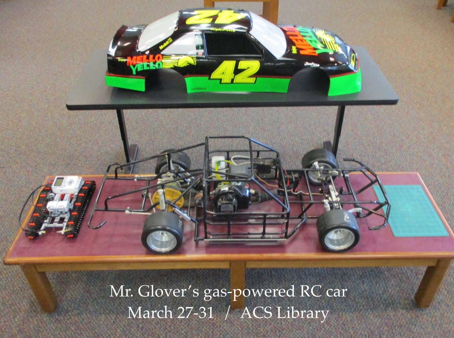 ACSLIB Poster: Large-scale RC car in library MakerSpace.