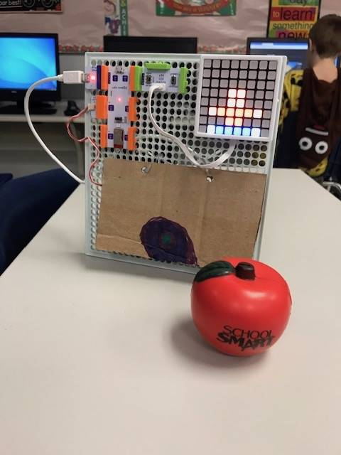 Student-build and -coded Littlebits project.