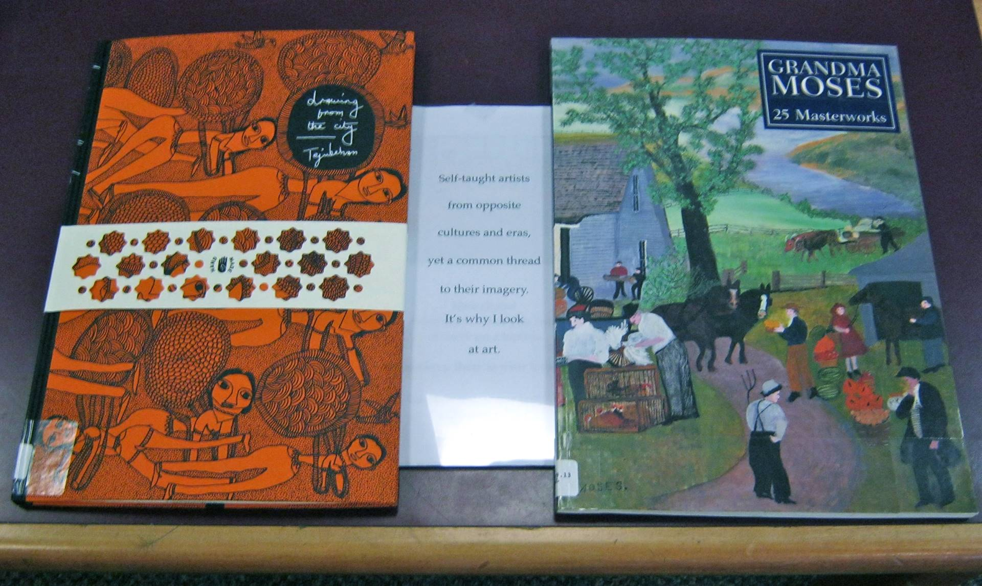 Book display: reason for browing art books.