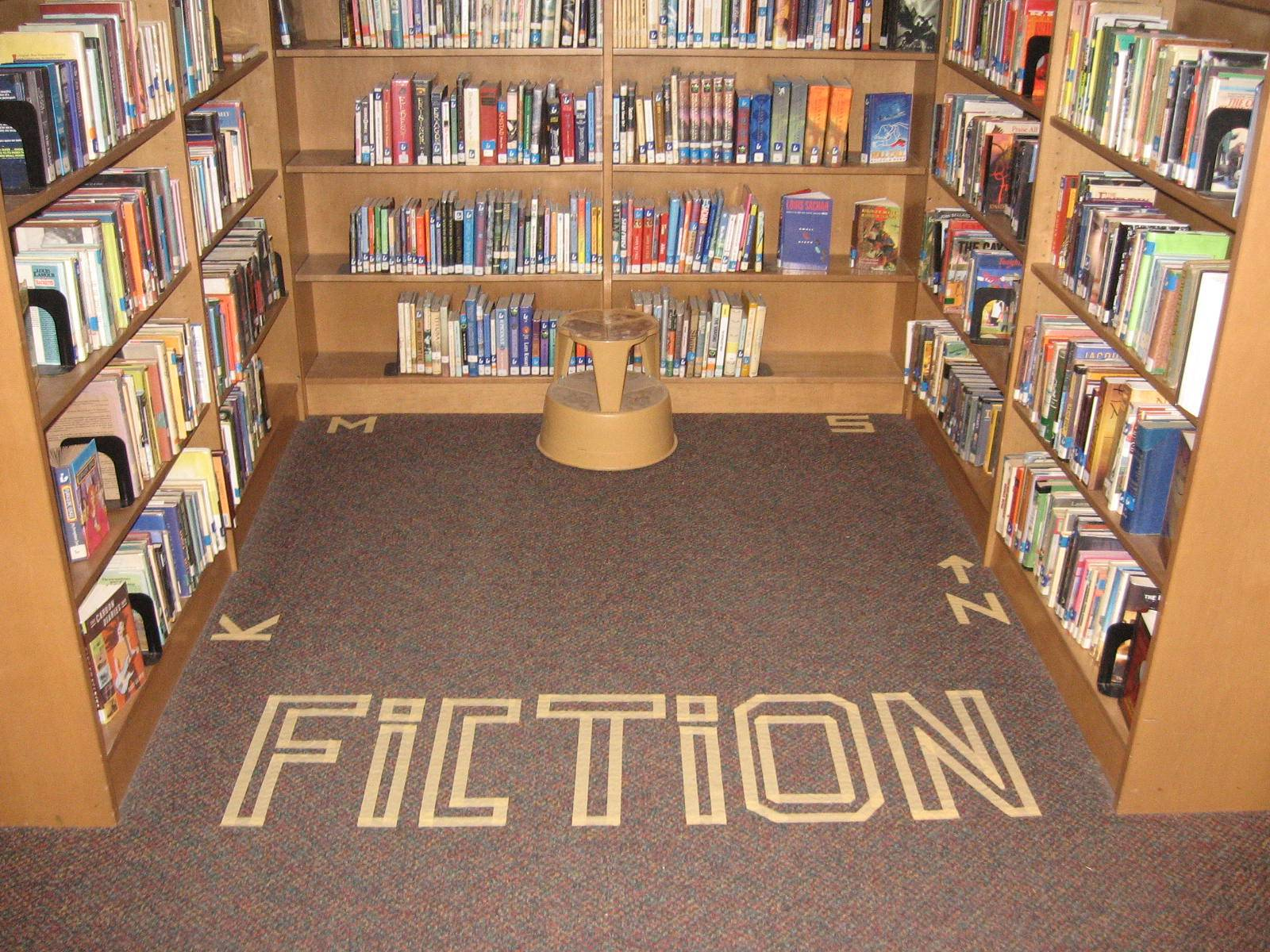 Library signage idea: tape on the floor.