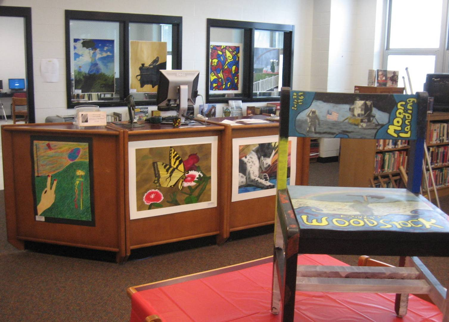 ACSLIB hosts and hangs the annual HS art show.