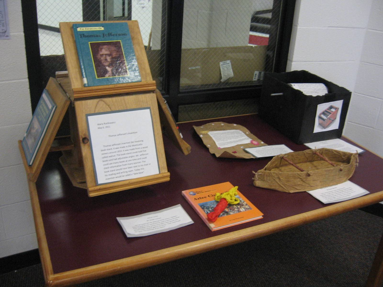 ACSLIB hosting and curating an Elementary student exhibit.