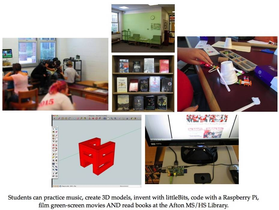 ACSLIB handbill illustrating opportunities in the Makerspace.