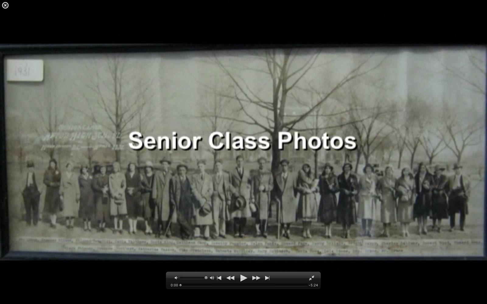 Title image to scanned of original class photos converted to JPEG files by ACSLIB.
