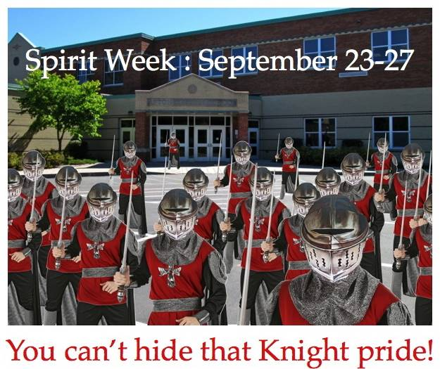 ACSLIB poster after learning how to remove backgound from an image: Spirit Week.