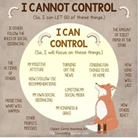 What I can and cannot control