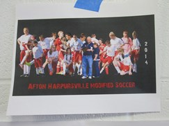 Image of team sport graphic created by a student.
